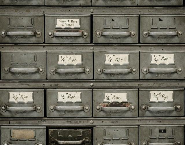 Gamle opbevaringskasser